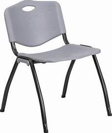 hercules series 880 lb capacity gray plastic stack chair