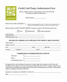 Credit Card Charge Authorization Free 13 Sample Credit Card Authorization Forms In Pdf