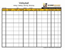 Volleyball Stat Sheet Gamegrade Charts Volleyball Scoring Volleyball