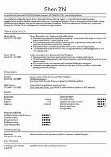 Professional Resume Writer Grant Writer Resume Sample Kickresume