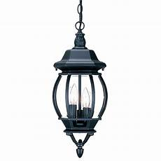 Chateau Lighting Hours Chateau Collection 3 Light Hanging Lantern Outdoor Matte