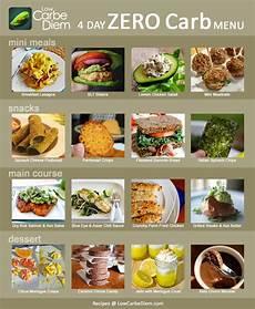 zero carb recipes 4 day menu plan low carbe diem