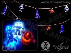 Rocket String Lights Spaceman Led String Lights Giftygadgety Com