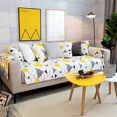 Yellow Sofa Slipcover 3d Image by Aliexpress Buy Modern Yellow Geometry Cotton Non