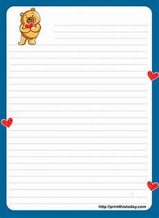 Letter Writing Paper Template Free Love Letter Pad Printable