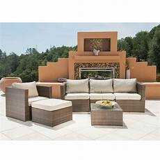 6pc outdoor patio sofa set sectional furniture pe wicker