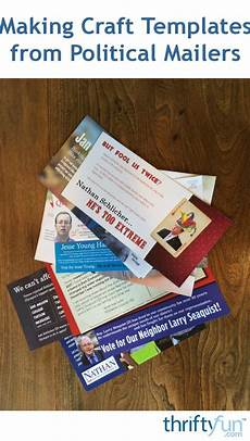 Templates For Mailers Making Craft Templates From Political Mailers Thriftyfun