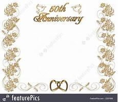 50th Anniversary Template Templates Wedding Anniversary Invitation 50 Years Stock