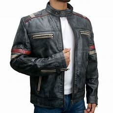 coats motorcycle s retro style 2 cafe racer distressed black leather