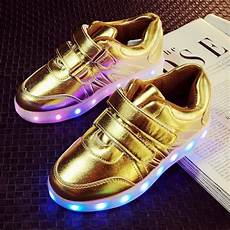 Kids Gold Light Up Shoes 7 Color Led Shoes For Kids Baby Sneakers Led Flash