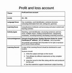 Profit Or Loss From Business 2013 Free 21 Sample Profit And Loss Templates In Google Docs