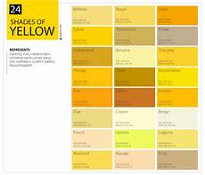 Shades Of Gold Color Chart 24 Shades Of Yellow Color Palette Graf1x Com