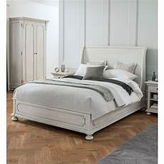 bakersfield grey antique style sleigh bed