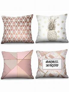 4 pcs geometric and letters print decorative pillowcases
