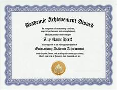 Academic Award Certificate Academic Achievement Award Certificate Recognition Gift Ebay