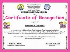 Certificate Of Recognition For Honor Students Image Result For Sample Of Certificate Of Recognition For