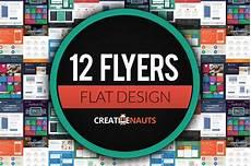 Flyer Design Examples Flat Design Corporate Flyer Bundle Flyer Templates
