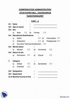 Sample Questionnare Survey Sample Questionnaire Star Paper Mill Research