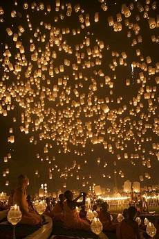 Lanterns And Lights At Chiang Mai Road Lantern Festival In Chiang Mei Thailand Awesome