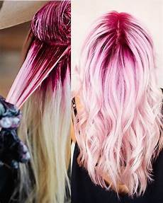 Black To Light Pink Ombre Hair During And After Shots By Jaywesleyolson Jay This Pink