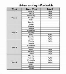 12 Hour Shift Schedule 11 Hour Shift Schedule Template 11 Free Word Excel