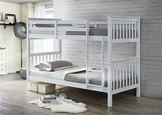 bunkbed in white solid white pine wood bunk bed frame