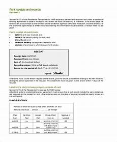Rent Receipt Form Free 12 Sample Rent Receipt Forms In Pdf Excel Word