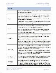 Audience Analysis Example Target Audience Analysis Sample Template
