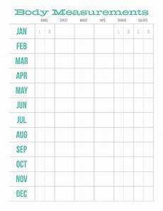 Body Measurement Chart Printable Monthly Body Measurements Chart Body Measurement Chart