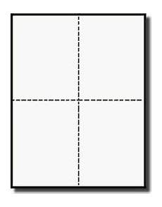 index card template 4 per sheet blank post cards bulk pack