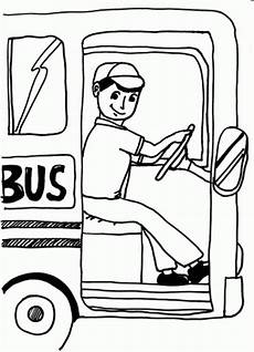 Driver Coloring School Driver Coloring Page Clipart Panda Free