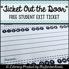 Ticket Out The Door Printable Quot Ticket Out The Door Quot Student Exit Ticket By