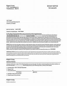 Printable 30 Day Notice To Landlord California 30 Day Notice To Vacate Ez Landlord Forms