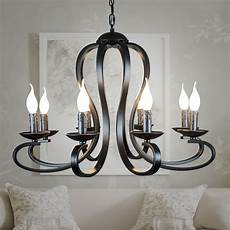 Candle Style Light Fixture Nordic American Coutry Style Modern Candle Chandelier