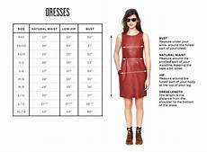 Miller Dress Size Chart Clothing Size Charts Amp Measurement Guide Madewell