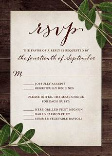 Wedding Invitations And Response Cards Wedding Rsvp Wording And Card Etiquette 2019 Wedding