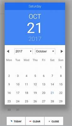 Angular Material Design Datepicker Angular Date Picker Background Too Short Material Design