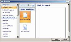 Create Microsoft Word Templates Ms Word 2007 Create A Template From A Blank Document