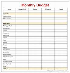 Monthly Budget Template Monthly Budget Template For Young Adults College Student