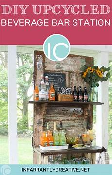 diy upcycled outdoor beverage station infarrantly creative