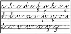 Chart Script Cursive Handwriting Step By Step For Beginners