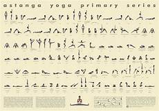 Yoga Primary Series Chart 112 Posture Yoga Poster Astanga Vinyasa Primary Series