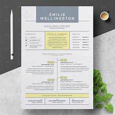 Creative Cv Resume Creative Professional Resume Cv Template By