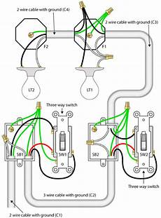 Two Switch Light Switch How To Wire A 3 Way Switch With 2 Lights Quora