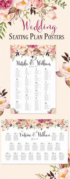 Wedding Seating Chart Poster Size Reception Seating Chart Posters Ready In 24 Hours
