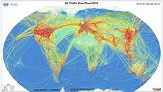 Chart A Course On Google Maps World Map Of Airline Traffic Density Mapporn