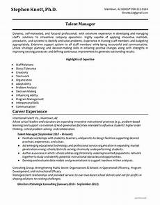 Example Of Skills In A Resume Skills Resume Example Talent Manager