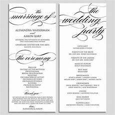 Wedding Ceremony Program Template Free Wedding Program Template Wedding Program Printable