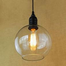 Light Bulb Shades Antique Copper Hanging Clear Glass Shade Pendant Lamp With