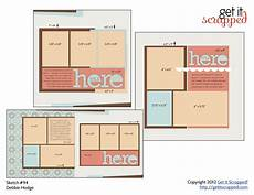 Photos Layout Templates Scrapbook Page Sketch And Template Bundle 94